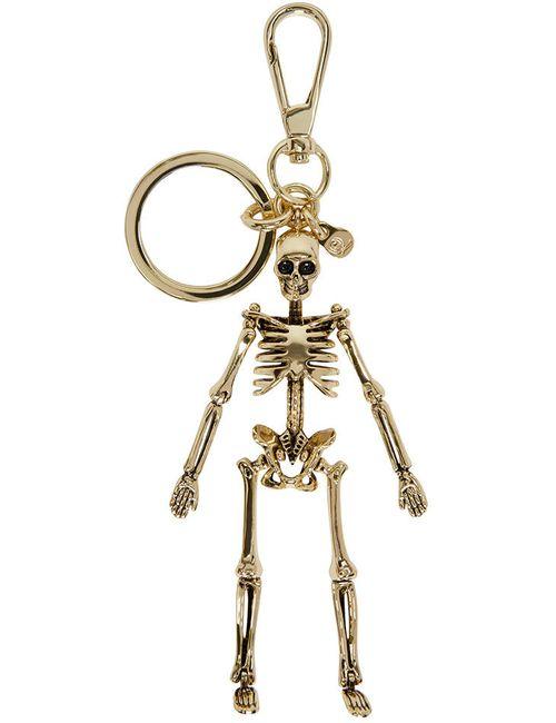 Alexander McQueen | Золотой Gold Skeleton Keychain