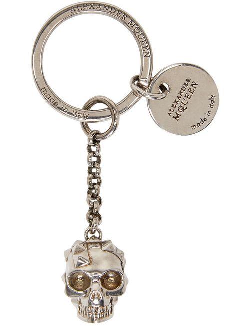 Alexander McQueen | Серебристый Silver Studded Skull Keychain