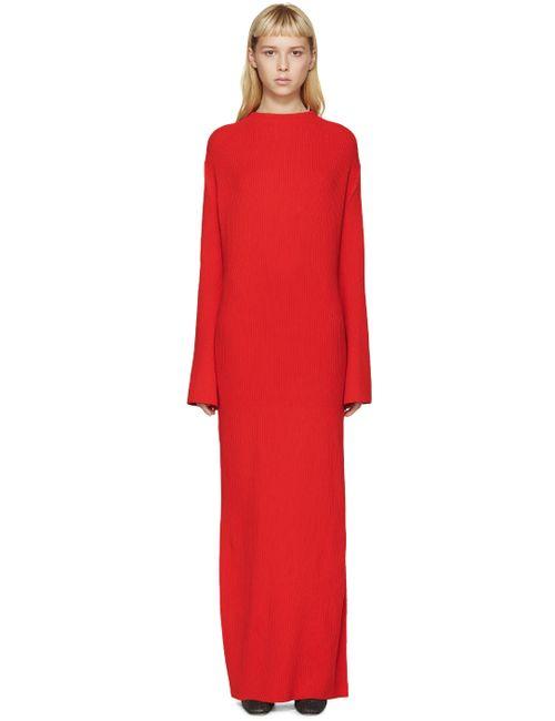 THOMAS TAIT | Красный Rib Knit Dress