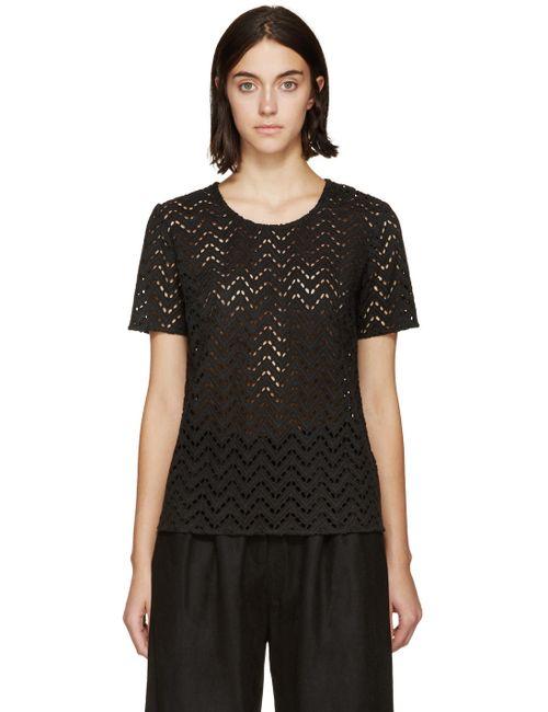 YMC | Чёрный Broderie T-Shirt