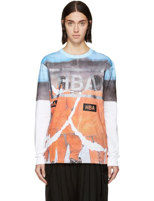 HOOD BY AIR | Белый And Orange Jumpsuit Logo T-Shirt