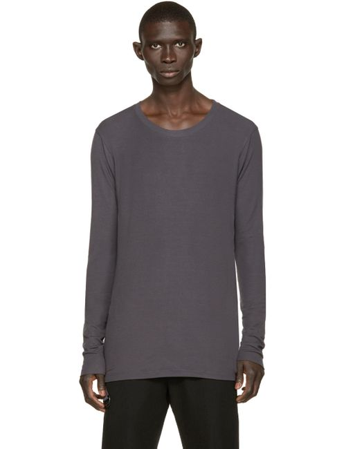 ALEXANDRE PLOKHOV | Мужское Charcoal Blue Long Sleeve T-Shirt