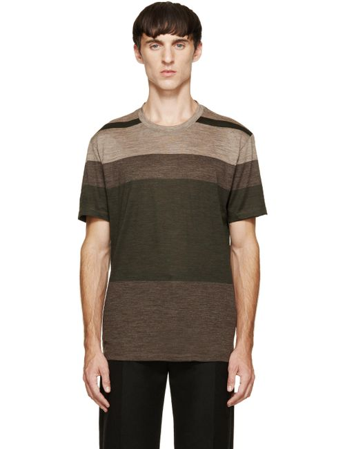 Paul Smith | Мужское Чёрный Tricolor Striped T-Shirt