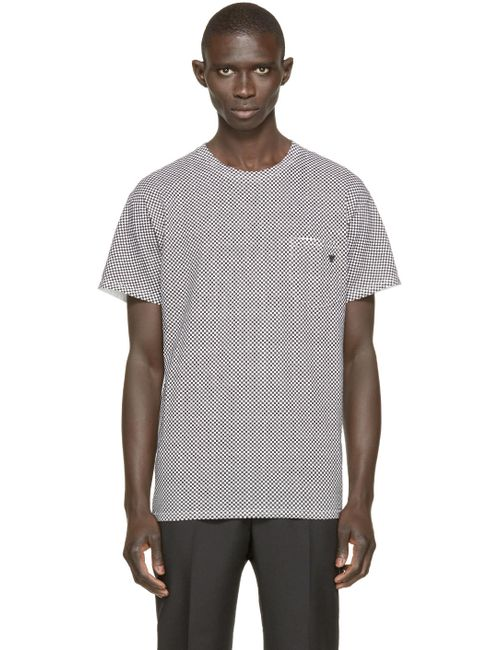 TOGA VIRILIS | Мужское Чёрный Black And White Check T-Shirt