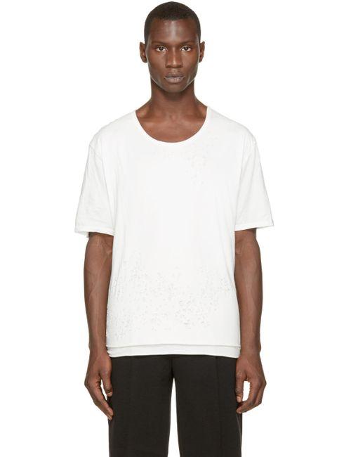 MIHARA YASUHIRO | Мужское Белый Miharayasuhiro Ivory Damaged T-Shirt