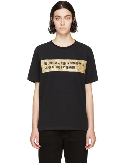 PALM ANGELS   Черный Quote T-Shirt
