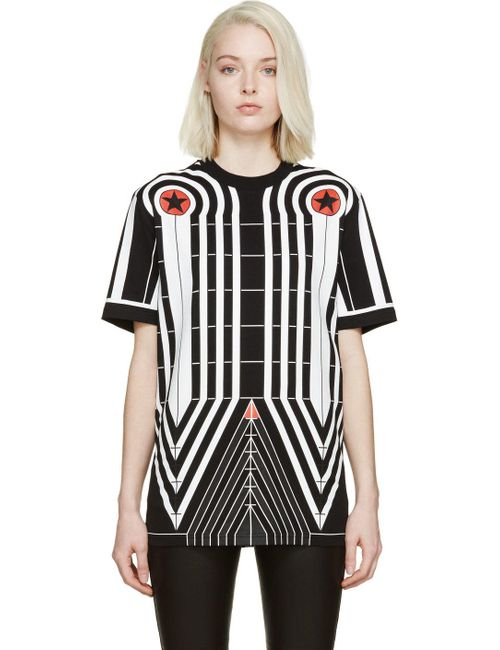 Givenchy | Чёрный Black Stars And Stripes T-Shirt