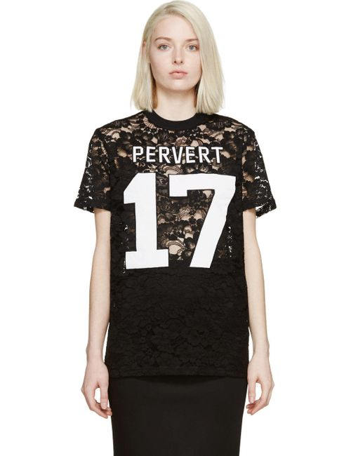 Givenchy | Чёрный Black Lace Pervert 17 T-Shirt