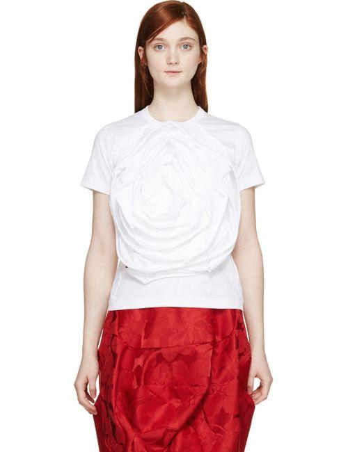 Comme Des Garcons | Белый Comme Des Garçons White Rosette T-Shirt
