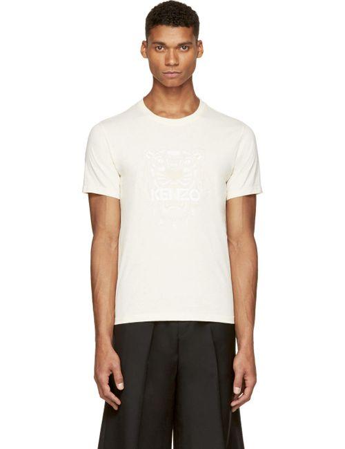 Kenzo | Мужское Белый Beige Tiger Print T-Shirt