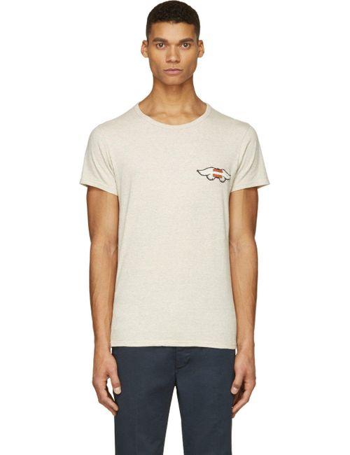 Visvim   Мужское Серый Ecru And Mélange Wings T-Shirt
