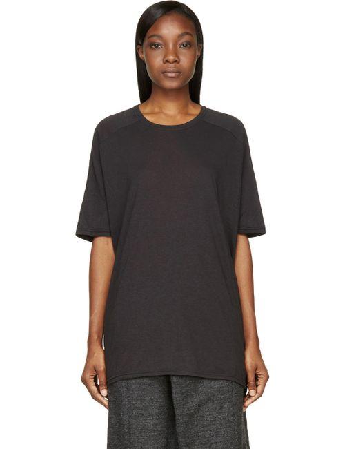 MA Julius | Charcoal Grey Oversized Jersey T-Shirt