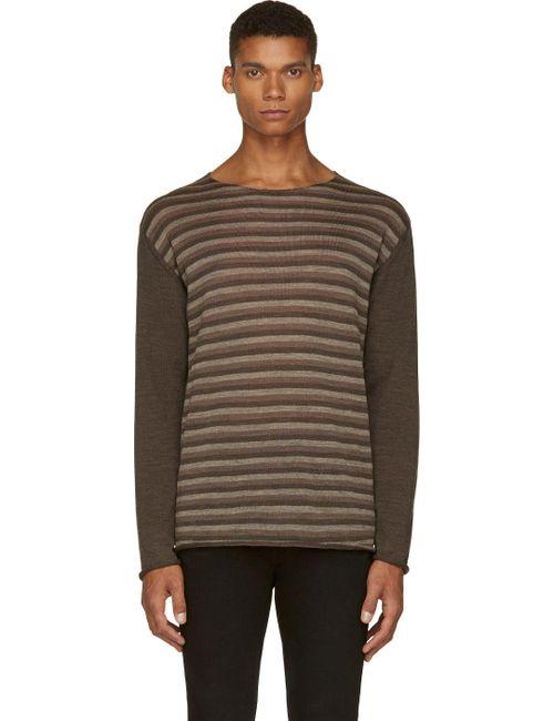 Undercover | Мужское Коричневый Wool Striped T-Shirt