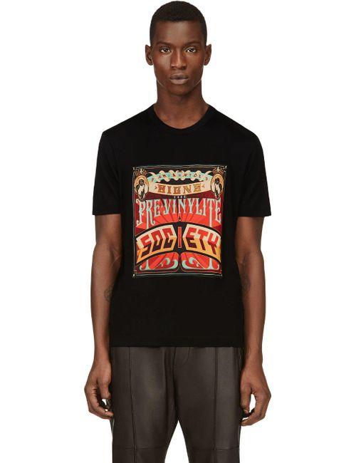 JUUN.J   Мужское Чёрный Poster Graphic T-Shirt