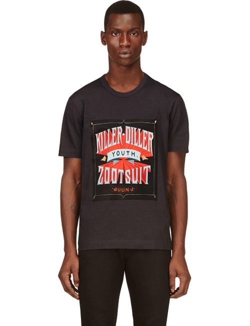 JUUN.J   Мужское Серый Killer Diller Print T-Shirt