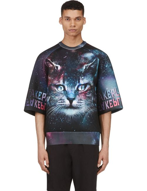 JUUN.J | Мужское Чёрный Ssense Exclusive Purple And Teal Cosmic Cat