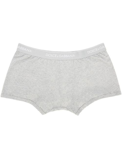 Dolce & Gabbana | Серый Dolce And Gabbana Grey Boxer Briefs Two-Pack