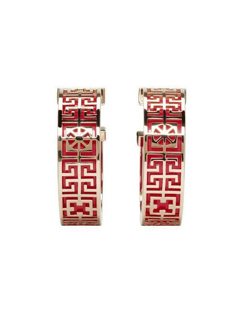 Versace | Красный Fuchsia And Gold Hoop Earrings