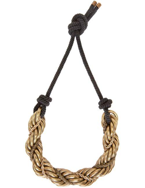 Lanvin | Золотой Gold And Black Katoucha Chain Necklace