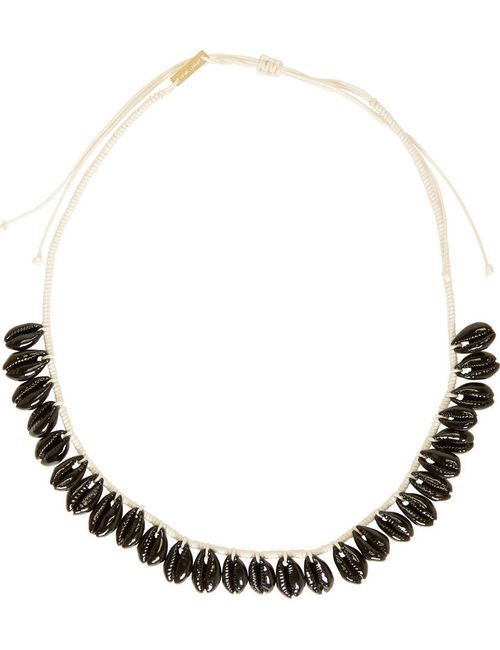 Isabel Marant | Чёрный Black Seashell Necklace