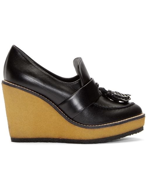 Robert Clergerie | Чёрный Leather Astrid Wedge Loafers