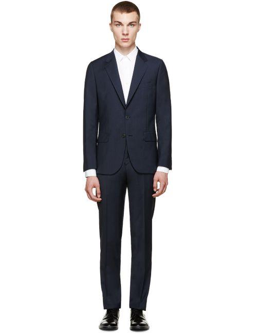 Paul Smith | N - Navy Navy Glen Plaid Mayfair Suit