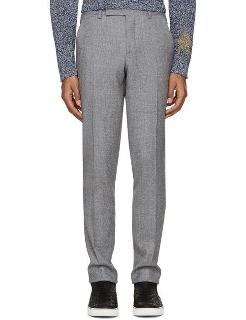 Paul Smith | Серый Grey Wool Slim Trousers