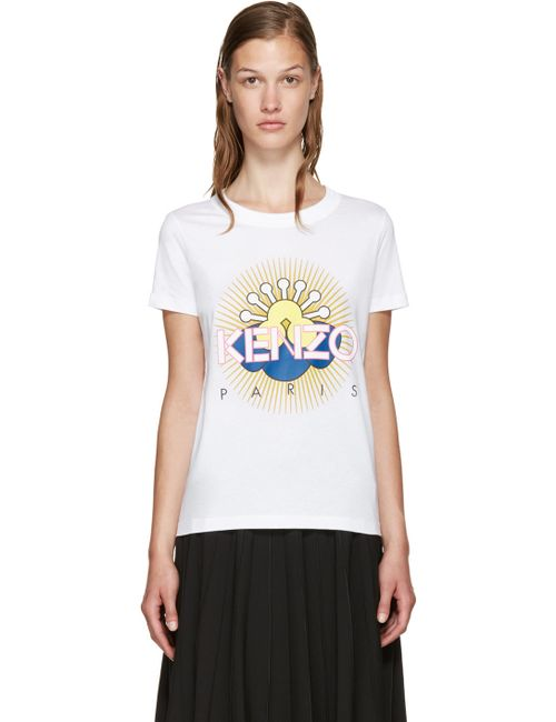 Kenzo | Белый White Tanami Flower T-Shirt