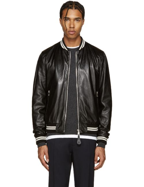 Dolce & Gabbana | Чёрный Dolce And Gabbana Black Lambskin Bomber Jacket