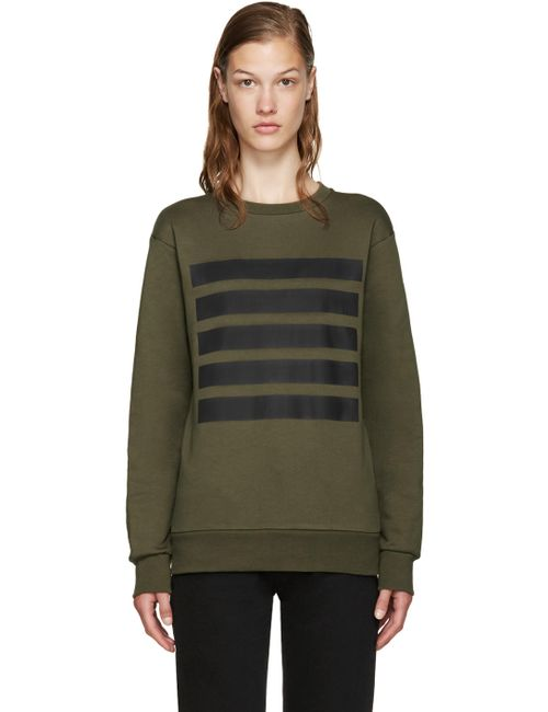 PALM ANGELS | Зелёный Green 5 Stripes Sweatshirt