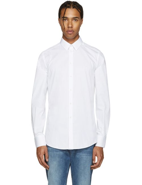 Dolce & Gabbana | Белый Dolce And Gabbana White Poplin Gold Shirt
