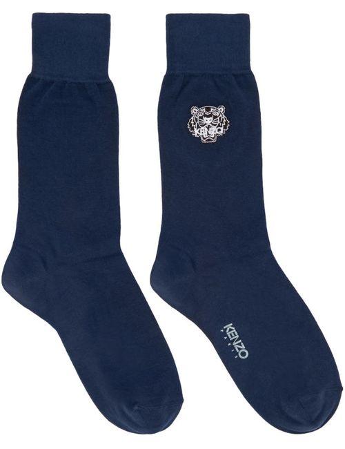 Kenzo | 78 Ink Navy Tiger Socks
