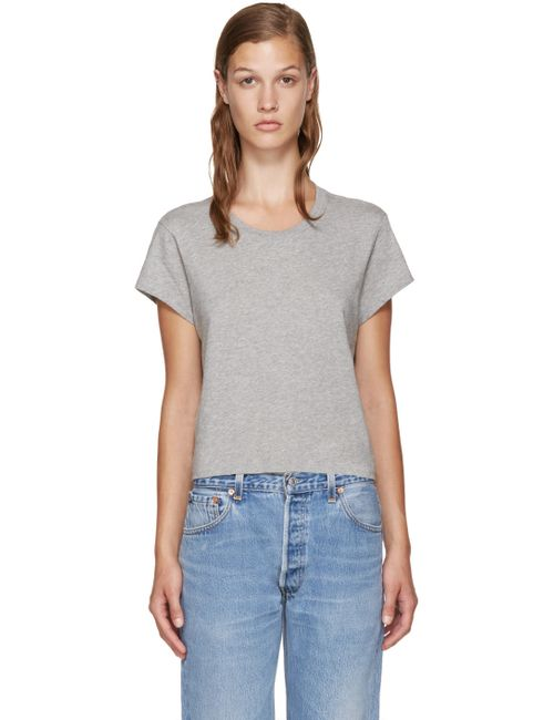 RE-DONE | Серый Grey Hanes Edition 1950s Perfect Boxy T-Shirt