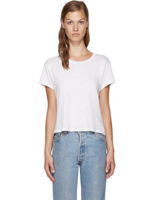 RE-DONE | Белый White Hanes Edition 1950s Perfect Boxy T-Shirt