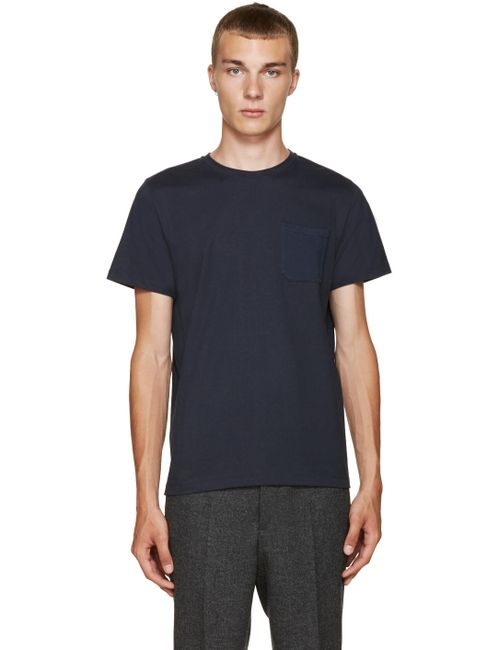 A.P.C.   Мужское Iak Dark Navy Navy Murray T-Shirt