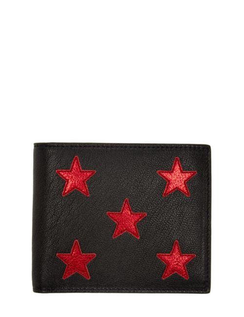 Saint Laurent | Чёрный Black And Red Stars Wallet