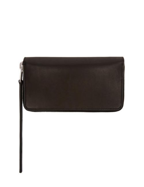 Rick Owens | Чёрный Black Medium Zippered Wallet