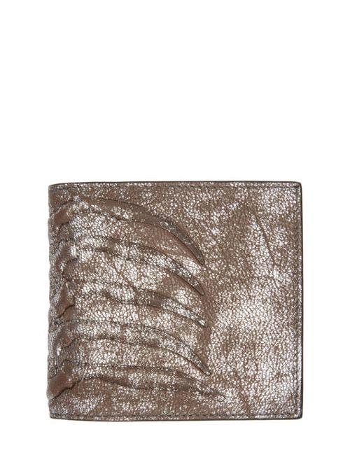 Alexander McQueen | Серебристый Silver Ribcage Bifold Wallet