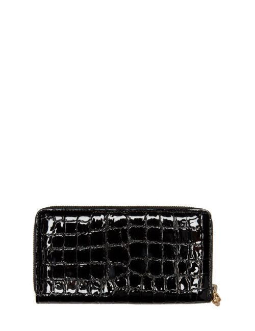 Alexander McQueen | Чёрный Black Croc-Embossed Wallet