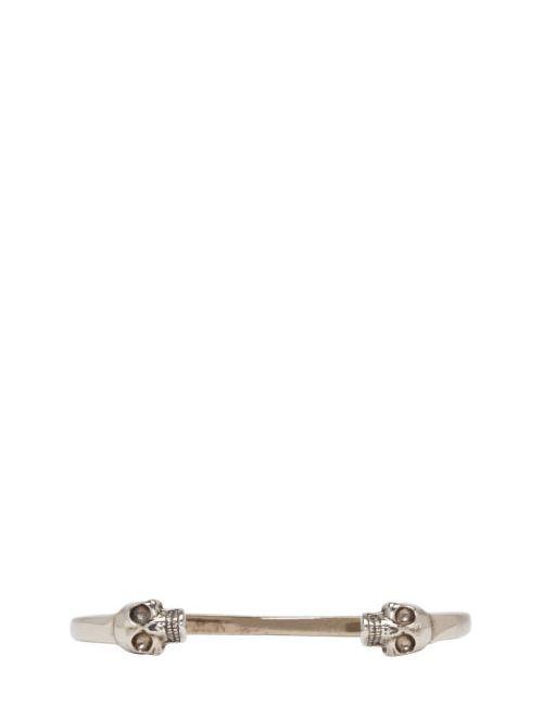 Alexander McQueen   Серебристый Silver Twin Cuff Bracelet