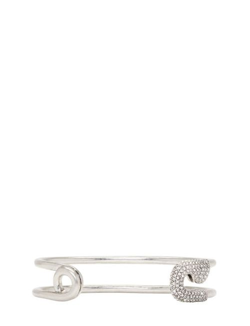 Marc Jacobs | Серебристый Silver And Crystal Safety Pin Cuff
