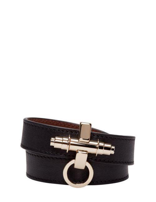 Givenchy | Чёрный Black Leather Obsedia Bracelet