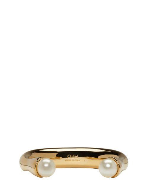 Chloe   002 Pearl Chloé Gold Darcey Bracelet