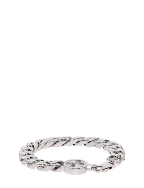 Gucci | Серебристый Silver Gg Logo Bracelet