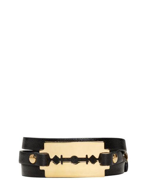 Mcq Alexander Mcqueen   Черный Black Triple Razor Bracelet