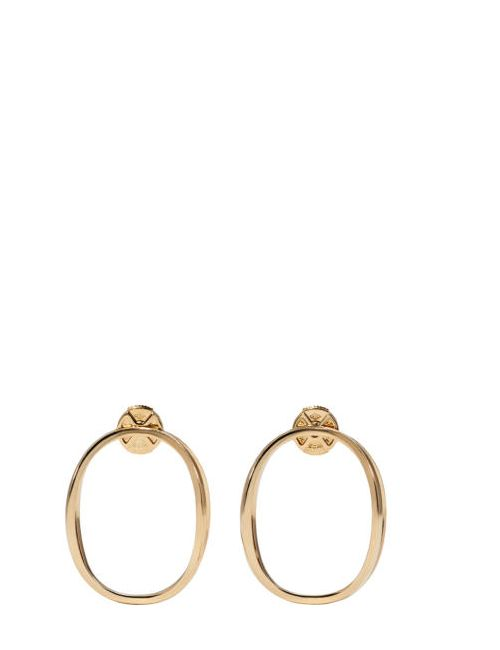 Delfina Delettrez | Золотой Gold Little Ear-Clipse Earrings