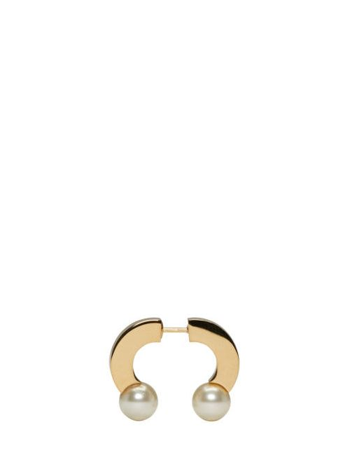 Chloe | 002 Pearl Chloé Gold Pearl Darcey Single Earring