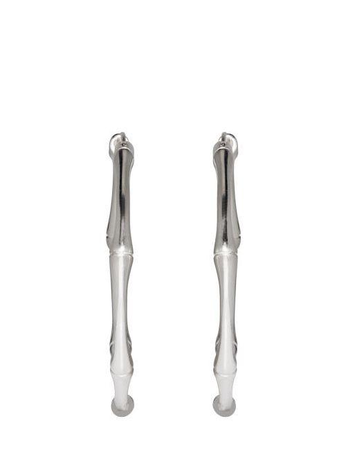 Gucci   Серебристый Silver Bamboo Hoop Earrings