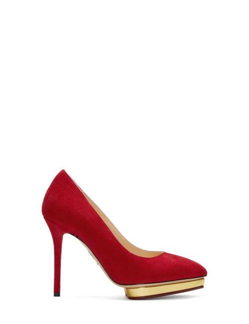 Charlotte Olympia   Красный Red Suede Debbie Heels