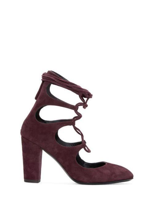 Giuseppe Zanotti Design | Pinot Giuseppe Zanotti Burgundy Suede Lace-Up Heels
